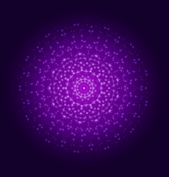 Purple light mandala abstract ornament vector