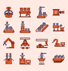 Robot manufacture icon vector image vector image