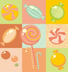 Seamless Candy Background vector image vector image