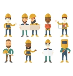 Set of constructors and builders characters vector