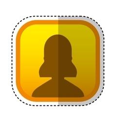 Silhouette user avatar square button vector