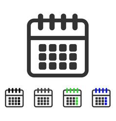 spiral calendar flat icon vector image vector image