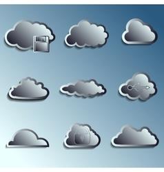 steel 3d clouds vector image