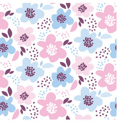 tender color abstract floral seamless pattern in vector image vector image