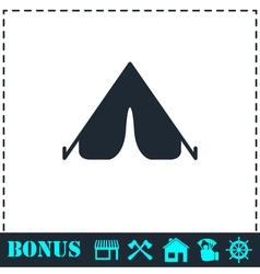 Tent icon flat vector