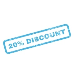 20 percent discount text rubber stamp vector