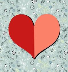 Paper heart vector
