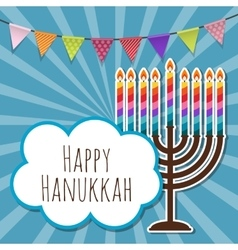 Abstract background happy hanukkah jewish holiday vector