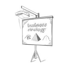 Business presentation sketch template vector