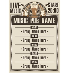 musical pub vector image