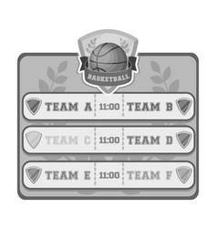Placard on the basketball courtbasketball single vector