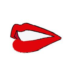 Lips mouth woman sensual icon vector