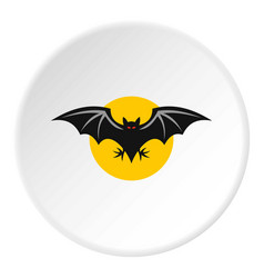 Bat icon circle vector