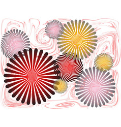 radial rays vector image