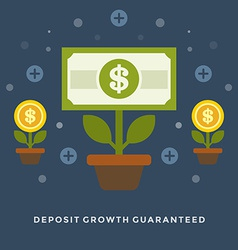 Flat design business concept money deposit vector