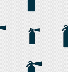 Fire extinguisher icon sign seamless pattern with vector