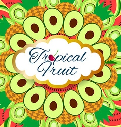 Background tropical fruit vector