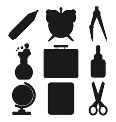 Black school goods silhouettes part 1 vector