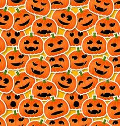 Halloween pumpkins - seamless pattern vector image