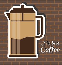 A jug of coffee with the best coffee vector