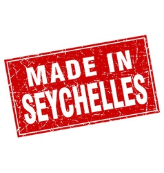 Seychelles red square grunge made in stamp vector