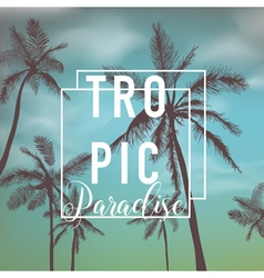 Tropical background palm leaves palms vector