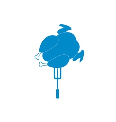 chicken barbecue icon vector image