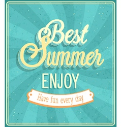 Best Summer Enjoy typographic design vector image vector image