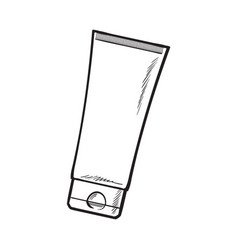 Blank unlabelled tube of sun protection vector