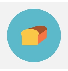 Bread icon vector image vector image
