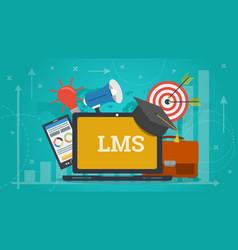 business banner - learning management system vector image