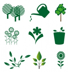 character outlines details of nature vector image vector image