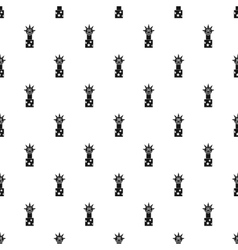 Clown jumping out from a box pattern simple style vector