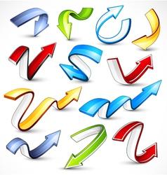 colour arrows vector image