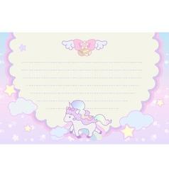 cute pastel magical lovely unicorn rainbow cloud vector image vector image