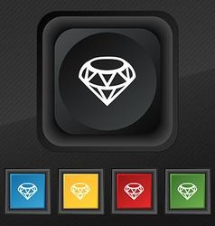 Diamond Icon symbol Set of five colorful stylish vector image