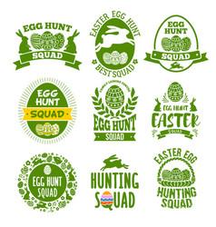 Easter label set vector