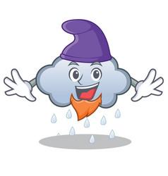 Elf rain cloud character cartoon vector