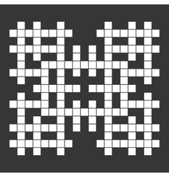 Empty Squares British-style Crossword Grid vector image vector image