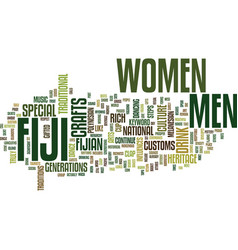 Fiji men text background word cloud concept vector