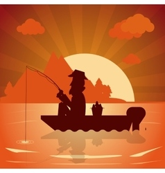 Fishing graphic design vector image