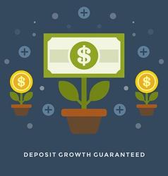 Flat design business concept Money deposit vector image