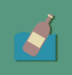 flat icon design collection bottle in the ground vector image vector image