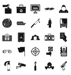 Gaffe icons set simple style vector