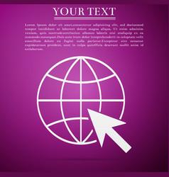 go to web icon globe and cursor vector image