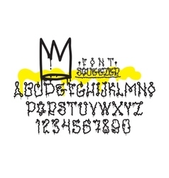 Graffiti squeezer font vector image vector image