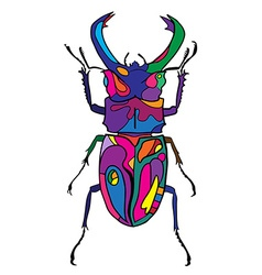 Hand drawn insect scribble icon vector