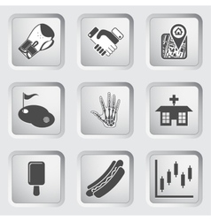 Icons on the buttons for Web Design Set 8 vector image vector image