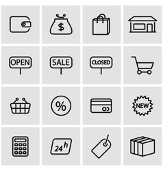 line shop icon set vector image