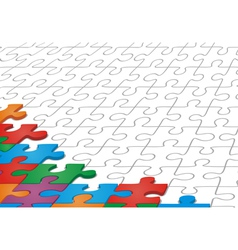 Many-colored puzzle pattern vector image vector image